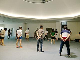 5日は本学のホールで練習を。
