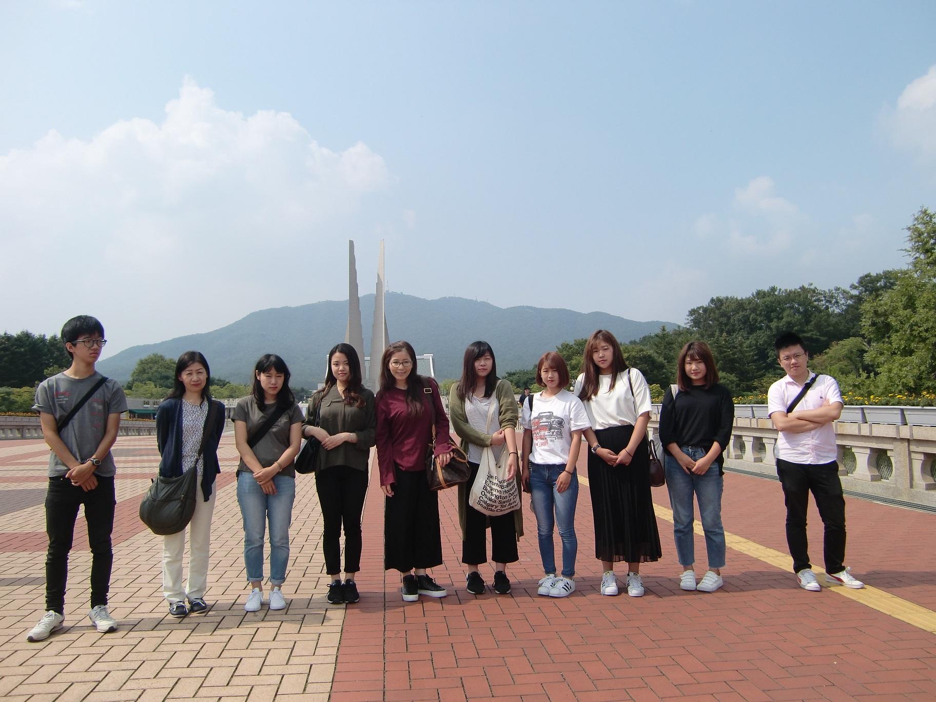 ⑭天安にある独立記念館にも行きました。