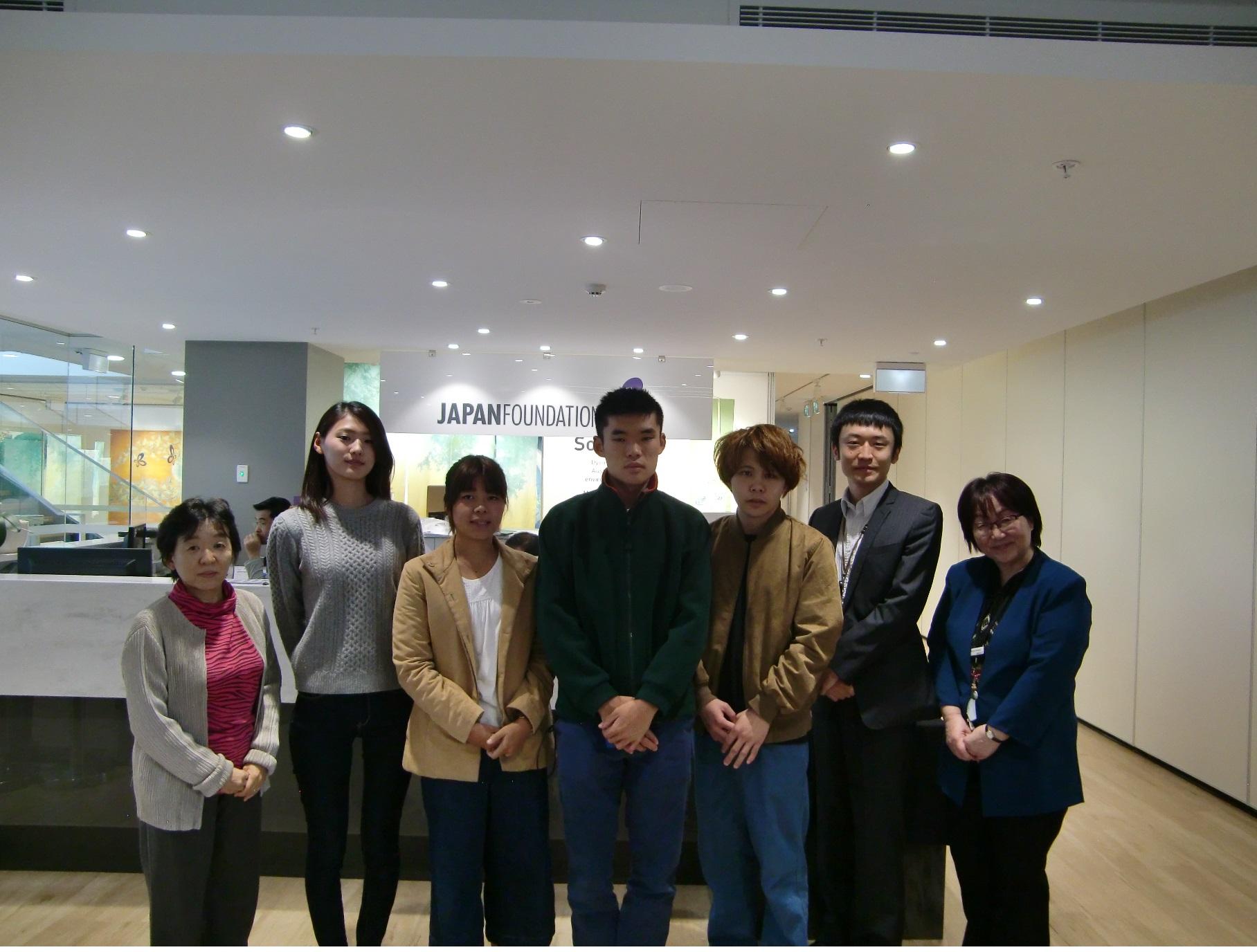 ⑨国際交流基金シドニー日本文化センターも訪問しました。オーストラリアの日本語教育事情について説明していただきました。