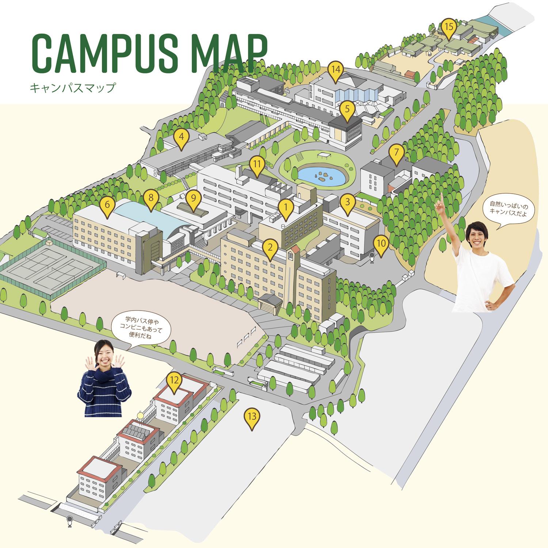 キャンパス全体地図